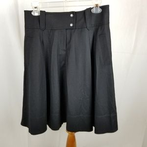 J. Crew Black Wool Skirt